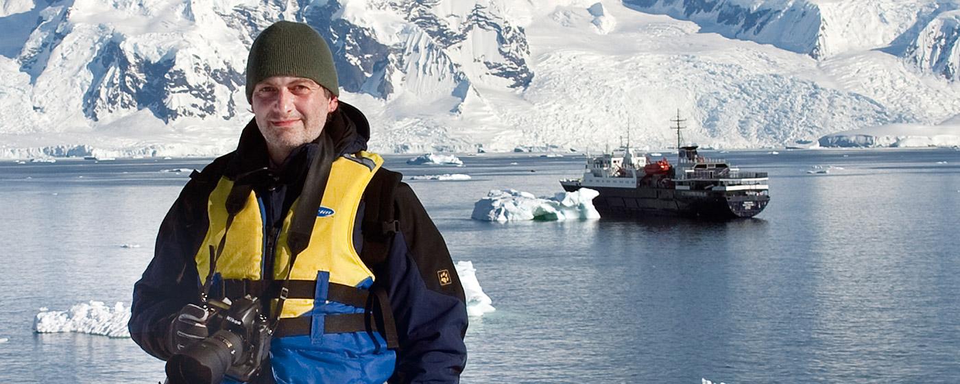 Achim Köpf in der Antarktis